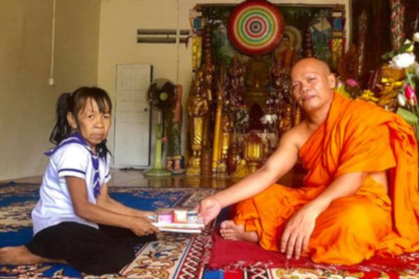 медицина, здоровье, девочка, лицо, старушка, Камбоджи
