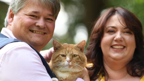семья, кот, лотерея, Англия