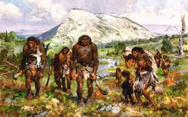 древние люди, неандертальцы, ухо пловца, вода