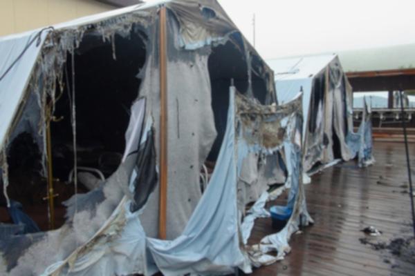 лагерь, дети, палатка, пожар,  Хабаровск