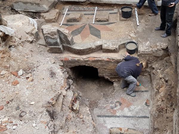 археология, раскопки, артефакты, синагога, Вильнюс