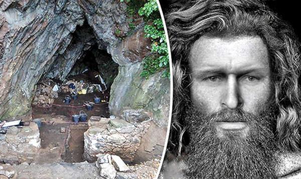 пещера, скелет, пикты, вождь, Шотландия