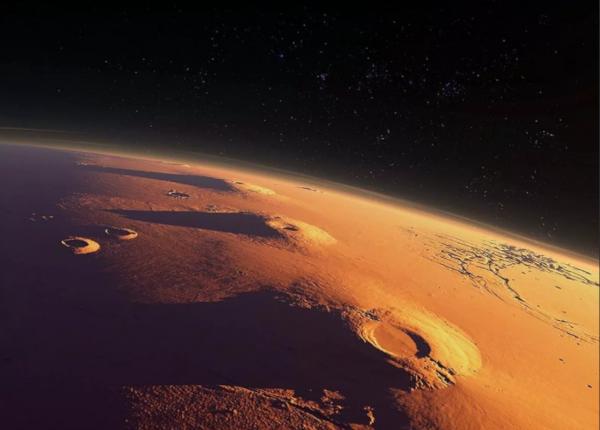 космос, планета, марс, цунами